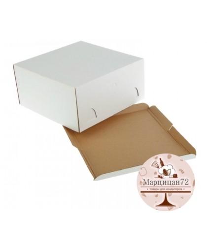 Кондитерская упаковка, короб белый 28 х 28 х 14 см.