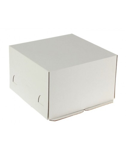 Кондитерская упаковка микро-гофро-картон, короб белый 30 х 30 х 19 см.