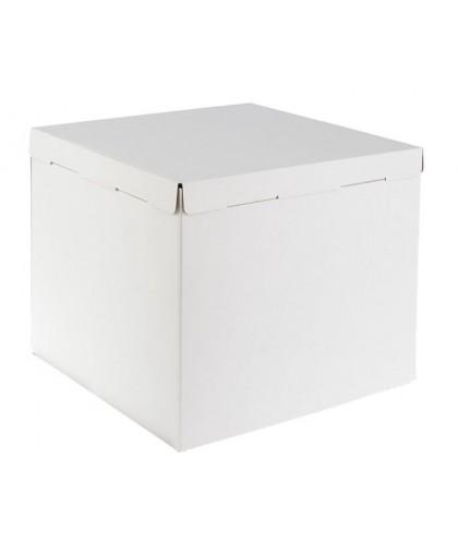 Кондитерская упаковка, короб белый 40 х 40 х 35 см.