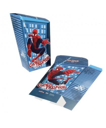 """Коробка подарочная складная """"Супер подарок"""", Человек- Паук"""