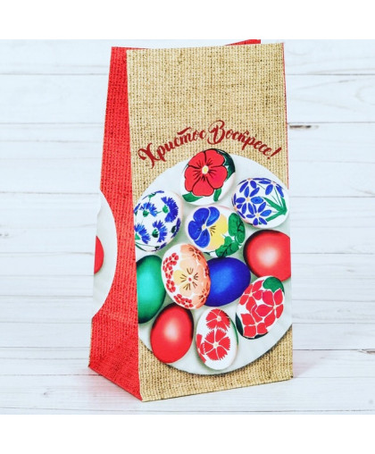 Пакет подарочный без ручек «Христово Воскресение», 12 х 19 х 7 см.