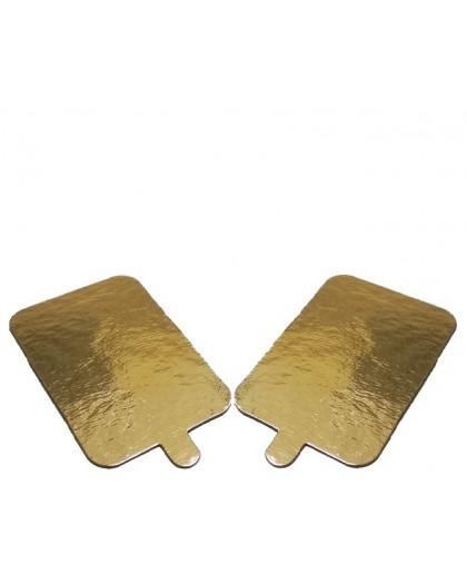Подложка золото с держателем прямоугольник 100х65мм, 0,8мм
