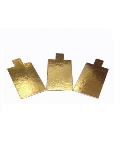 Подложка золото с держателем прямоугольник 130х40мм, 0,8мм