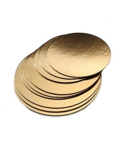 Подложка  усиленная 26 см, золото, 2,5 мм.