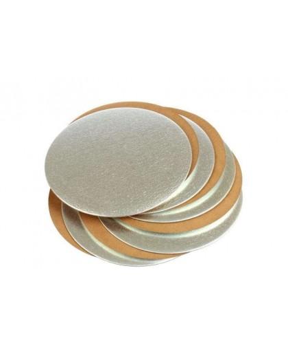 Подложка усиленная, 24 см, золото-жемчуг, 1,5 мм.