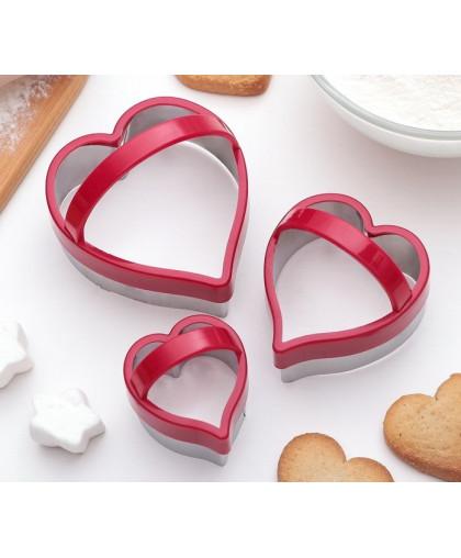 Набор форм для вырезания печенья 10×8 см, 3 шт