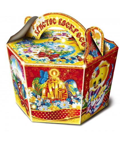 "Коробка подарочная ""Пасха"", корзина, сборная, 22х32х19 см"