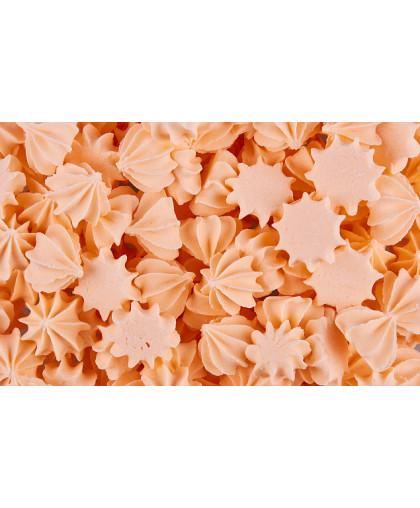 Сахарные фигурки Мини-безе 50 +/-5 г, оранжевые