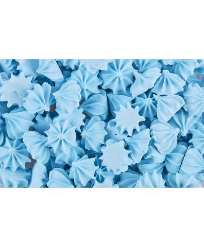 Сахарные фигурки Мини-безе 50 +/-5г, голубые