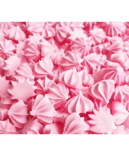 Сахарные фигурки Мини-безе 50 +/- 5 г, розовые