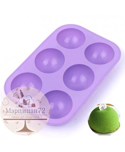 Форма для выпечки и шоколада полусфера 6 ячеек d - 7 см.